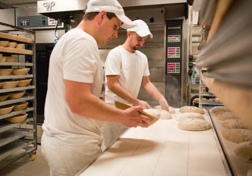 Herstellung Brote